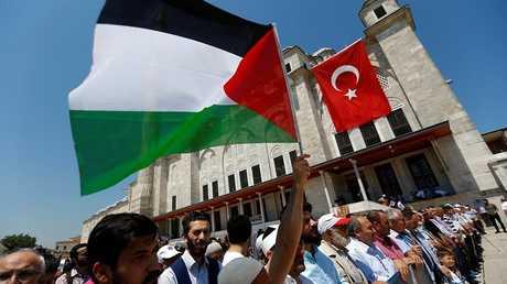 صلاة الغائب في مسجد الفاتح باسطنبول على أرواح الفلسطينيين في غزة