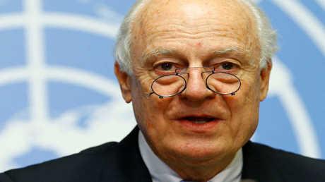 المبعوث الأممي إلى سوريا ستافان دي ميستورا