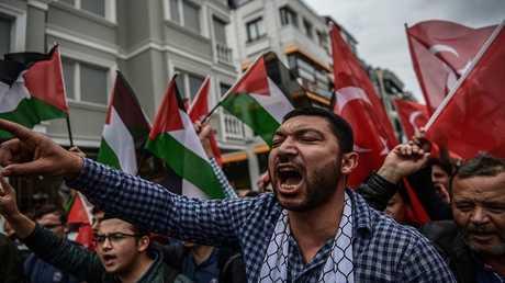 مظاهرات في تركيا تأييدا للفلسطينيين
