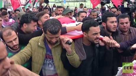 غزة تشيع ضحايا مسيرات العودة