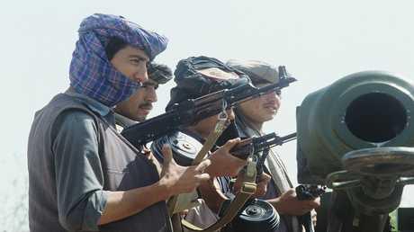 صورة من الارشيف لمسلحين في افغانستان
