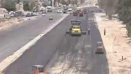 طريق حرستا السريع بدمشق يستأنف عمله