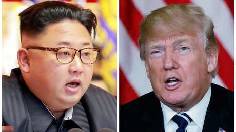 الرئيس الأمريكي، دونالد ترامب، وزعيم كوريا الشمالية، كيم جونغ أون