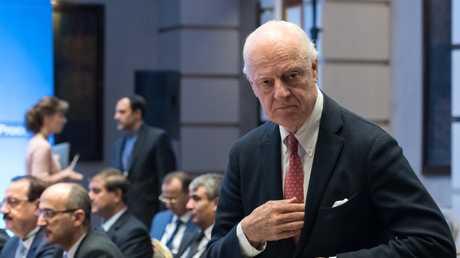 مبعوث الأمم المتحدة الخاص إلى سوريا ستيفان دي ميستورا في محادثات أستانا، 15 مايو 2018
