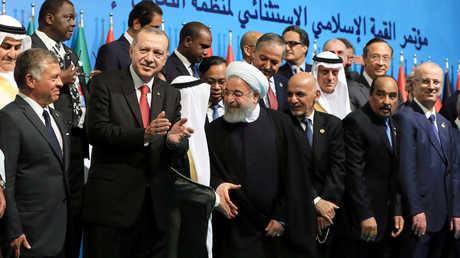 المشاركون في القمة الاستثنائية لمنظمة التعاون الإسلامي في إسطنبول