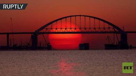 فيديو يظهر روعة جسر كيرتش