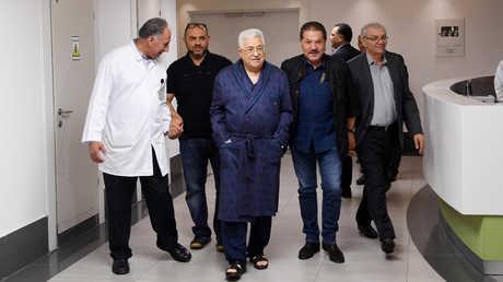 الرئيس الفلسطيني في المستشفى في رام الله، 21 مايو 2018