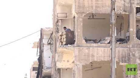 استمرار عودة أهالي الغوطة إلى منازلهم