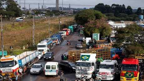 إضراب سائقي الشاحنات في البرازيل