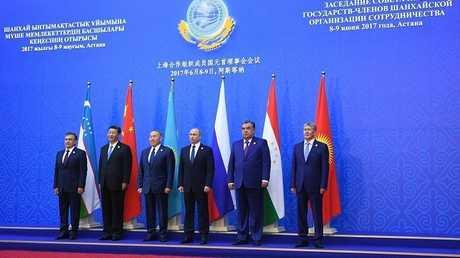 زعماء الدول الأعضاء في منظمة شنغهاي للتعاون- صورة من الأرشيف