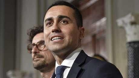 """زعيم حركة """"خمس نجوم"""" الإيطالية لويجي دي مايو"""