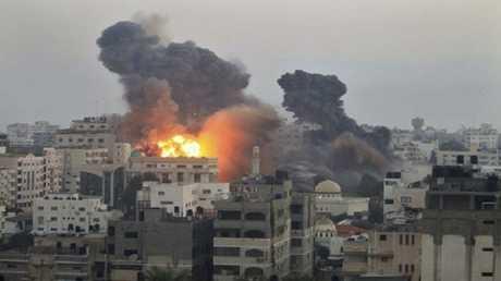 انفجار في غزة - صورة من الأرشيف