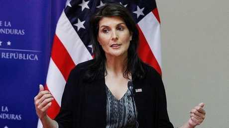 المندوبة الأمريكية الدائمة لدى الأمم المتحدة، نيكي هايلي