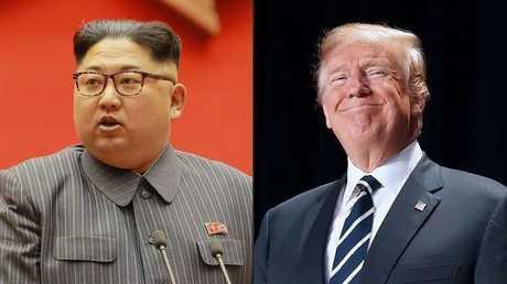 الرئيس الأمريكي، دونالد تراكب، وزعيم كوريا الشمالية، كيم جونغ أون