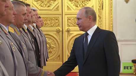بوتين: قدرة جيشنا القتالية ضمان لمصالحنا
