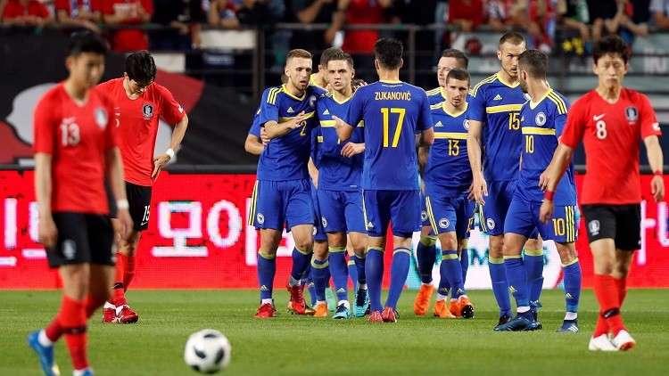 كوريا الجنوبية تخسر أمام البوسنة استعدادا لمونديال 2018