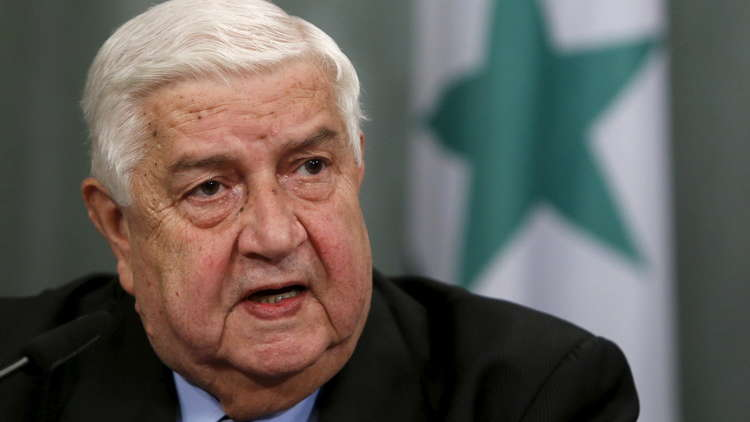 المعلم: لا حديث عن اتفاق في الجنوب السوري قبل انسحاب القوات الأمريكية من التنف