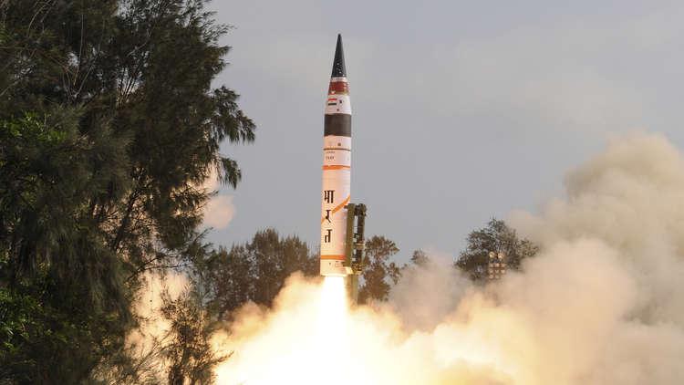 تجربة ناجحة لصاروخ هندي قادر على حمل رأس نووي