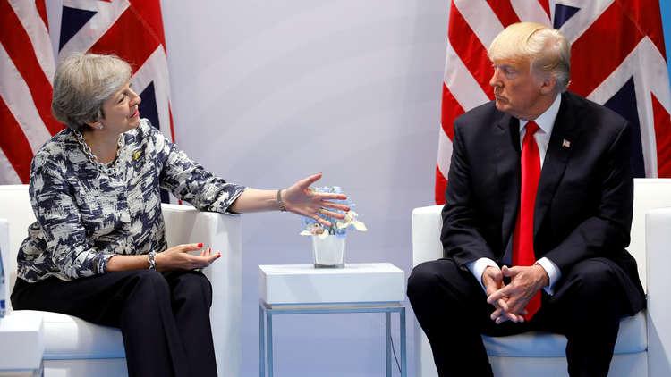 ترامب يدعو ماي إلى اتفاق شامل جديد حول إيران