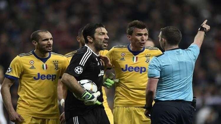 اليويفا يوقف بوفون 3 مباريات لطرده ضد ريال مدريد