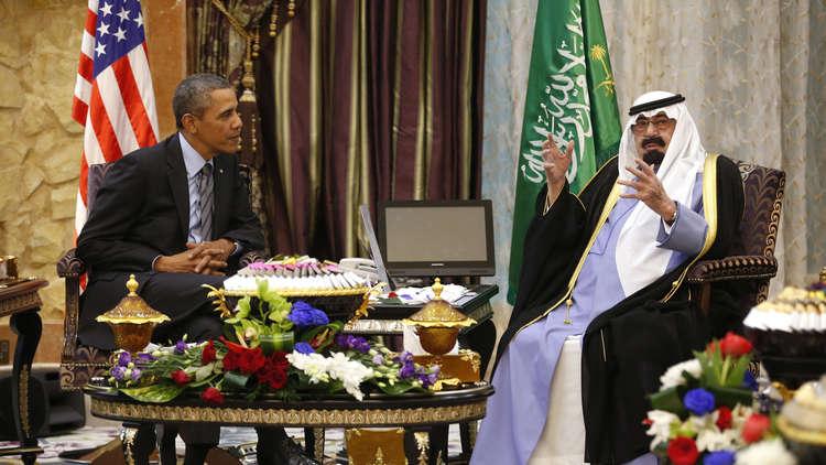 اجتماع بين باراك أوباما والملك الراحل عبد الله بن عبد العزيز آل سعود