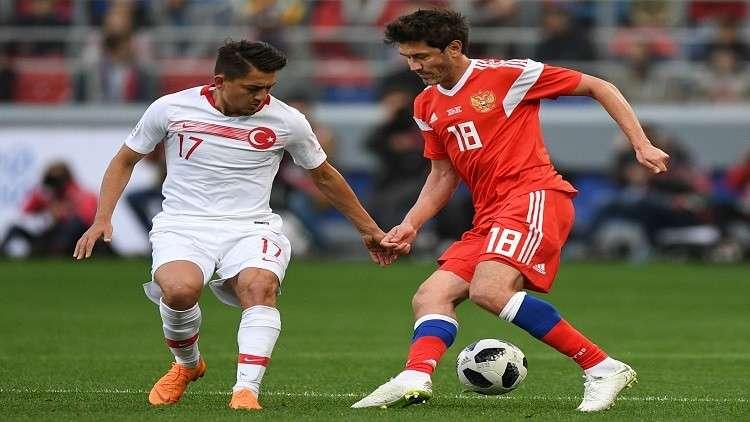 روسيا تتعادل مع تركيا استعدادا للمونديال