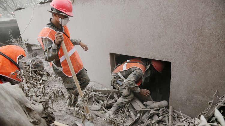 فقدان 192 شخصا جراء ثوران بركان في غواتيمالا