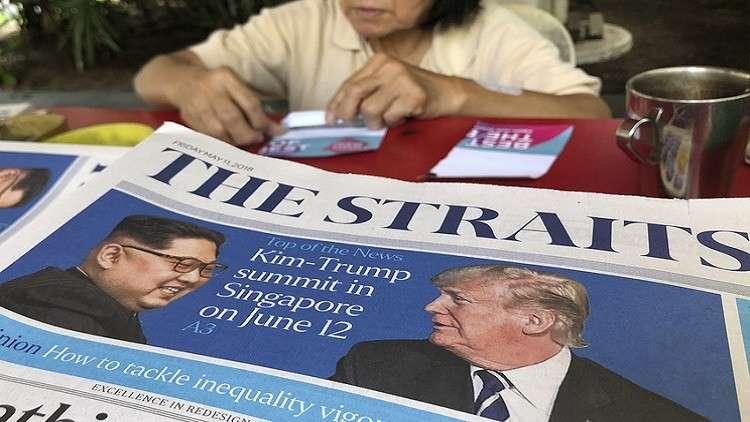 بلومبرغ تكشف عن مطالب ترامب من كيم في سنغافورة