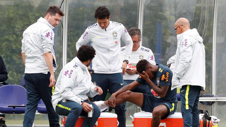 فريد يتعرض لإصابة قوية في مران المنتخب البرازيلي