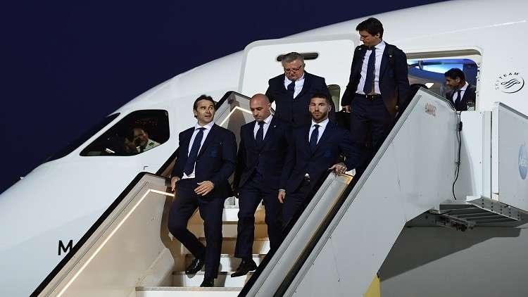 وصول المنتخب الإسباني إلى روسيا للمشاركة في المونديال