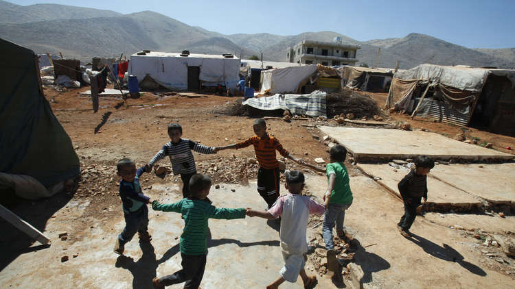 أطفال سوريون في وادي البقاع شرق لبنان (أرشيف)