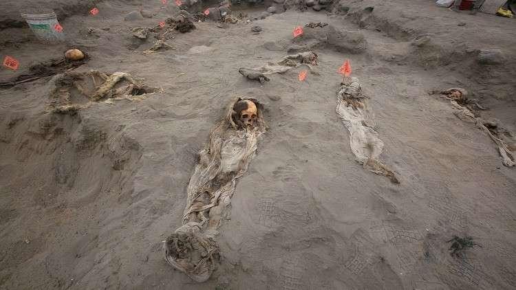 العثور على 56 جثة لأطفال قدموا قرابين للآلهة