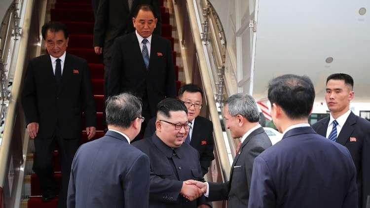 كيم يصل إلى سنغافورة للقاء ترامب