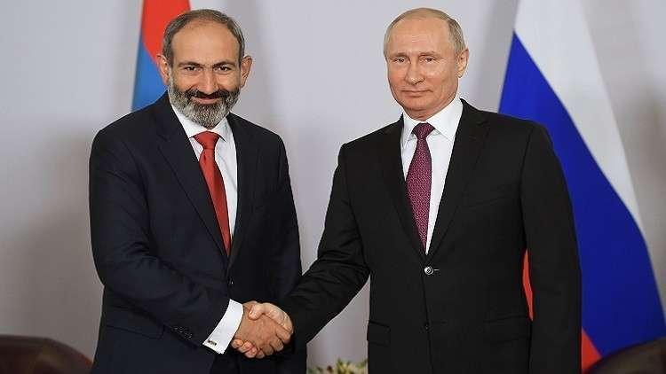 بوتين يلتقي رئيس الوزراء الأرمني الأسبوع المقبل