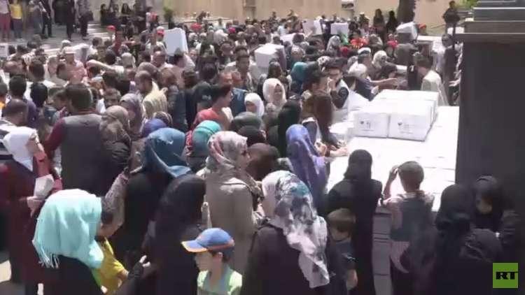 مساعدات من إنغوشيا توزع في حمص