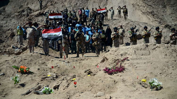 إحدى المقابر الجماعية لضحايا