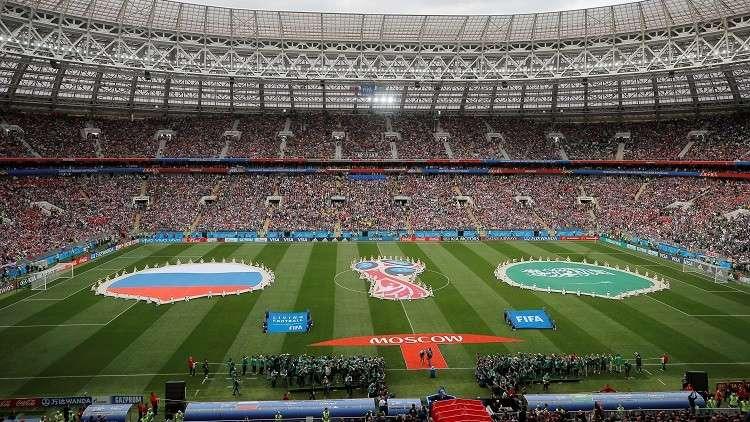 التشكيلة الأساسية للمباراة الافتتاحية لمونديال 2018  بين روسيا  والسعودية