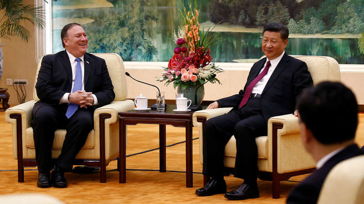 الخارجية الأمريكية: بومبيو جدد لبكين رفضنا لعسكرة بحر الصين الجنوبي