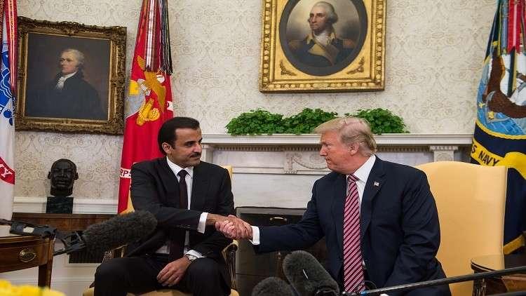 ترامب يؤكد لأمير قطر دعمه لـ