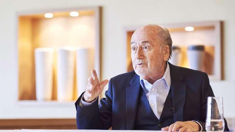 """رئيس """"الفيفا"""" السابق يحضر مباراة المغرب والبرتغال"""