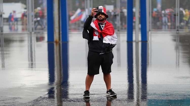 أمطار غزيرة تسبق موقعة روسيا ومصر