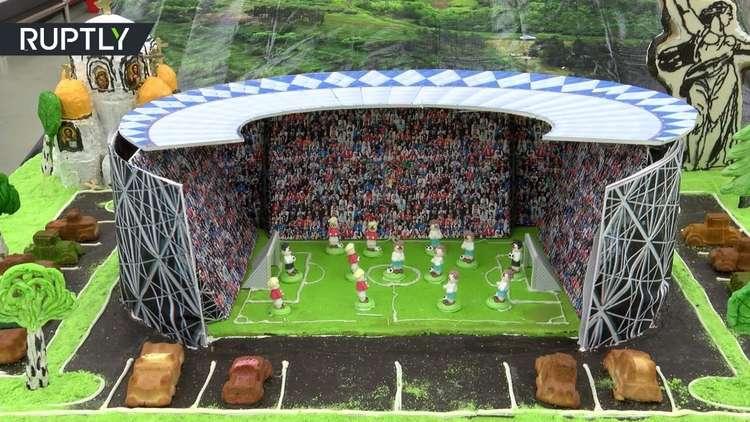 كعكة ضخمة على شكل ملعب فولغوغراد!