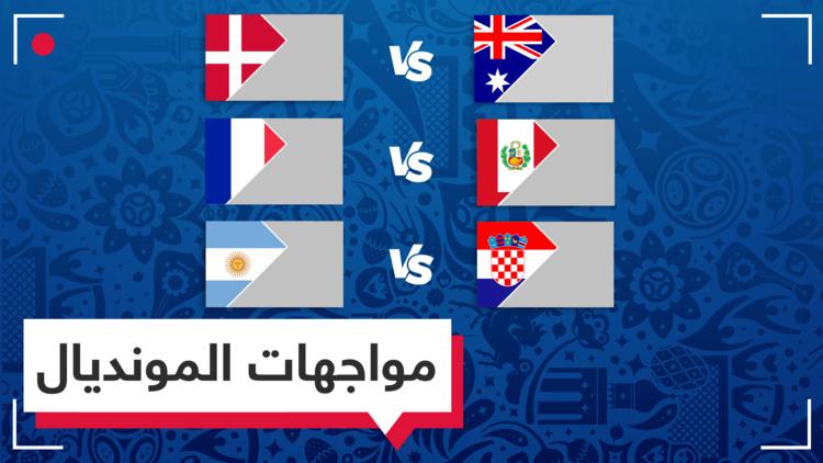 الدنمارك تتعادل مع أستراليا وفرنسا تتفوق على بيرو وكرواتيا تقابل الأرجنتين