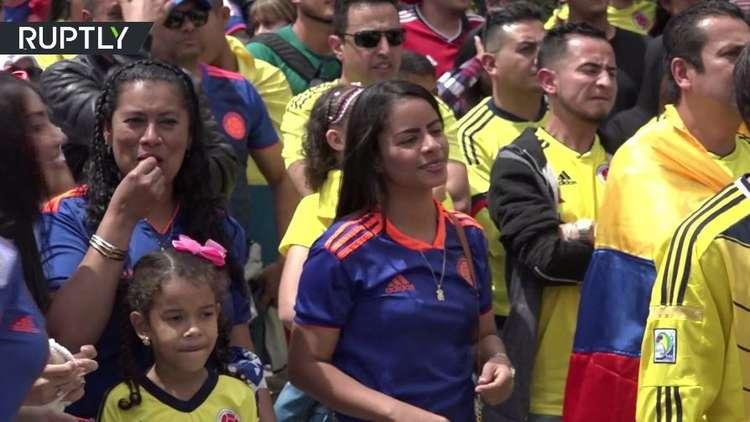 احتفالات جنونية في كولومبيا بعد فوز منتخبها على بولندا