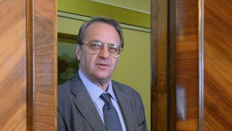 بوغدانوف يبحث التسوية الشرق أوسطية مع وفد حماس