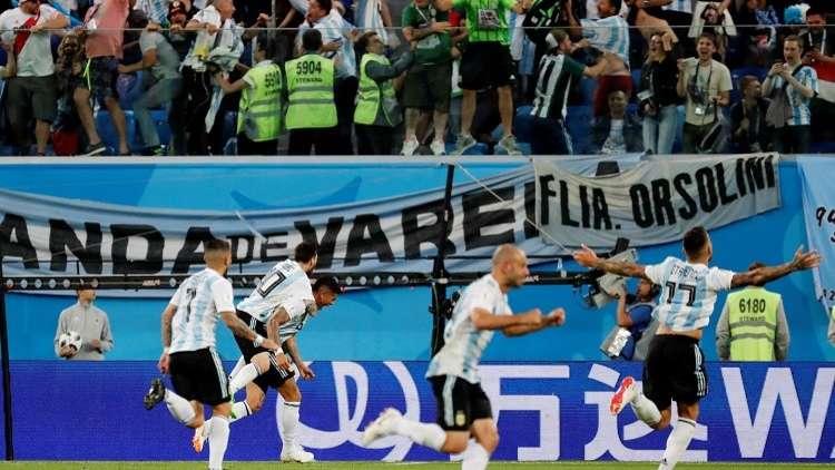 """الأرجنتين بهدف """"ذهبي"""" إلى دور الـ 16 من مونديال روسيا"""