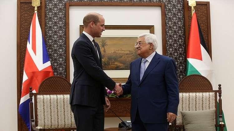 عباس يستقبل الأمير البريطاني ويليام