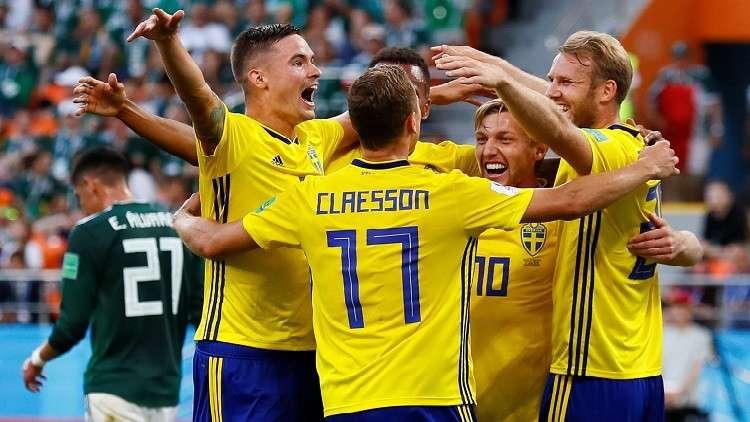 السويد تقسو على المكسيك بثلاثية وتبلغ دور الـ 16 من مونديال روسيا
