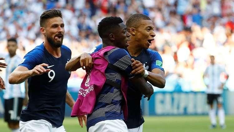 فرنسا تتغلب على الأرجنتين في مباراة غزيرة الأهداف