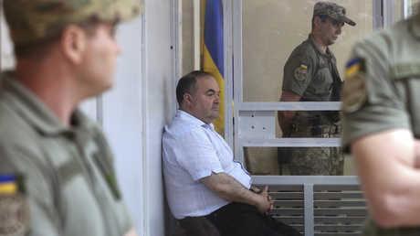 بوريس غيرمان المشتبه بالتخطيط لاغتيال الصحفي الروسي أركادي بابتشينكو، كييف، 31 مايو 2018